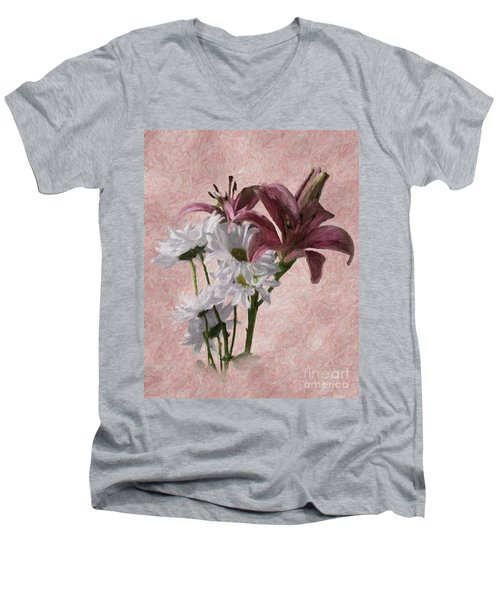 Summer Wild Flowers 3 Men's V-Neck T-Shirt