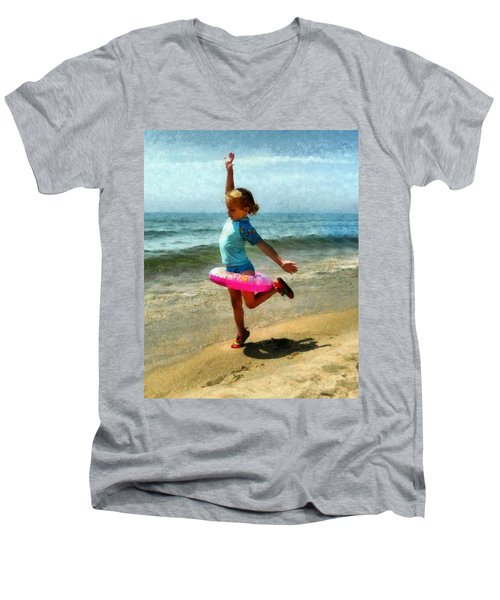 Summertime Girl Men's V-Neck T-Shirt