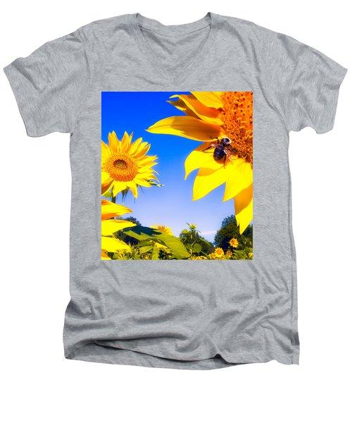 Summertime Sunflowers Men's V-Neck T-Shirt