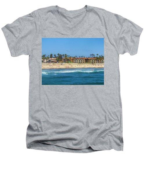 Summertime Men's V-Neck T-Shirt by Tammy Espino