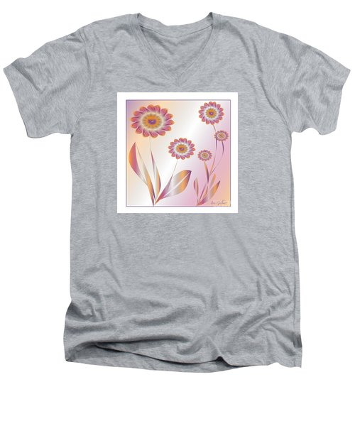 Summerwork Duvet Cover And Pillow Men's V-Neck T-Shirt by Iris Gelbart