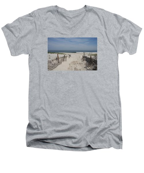 Sun And Sand Men's V-Neck T-Shirt by Christiane Schulze Art And Photography
