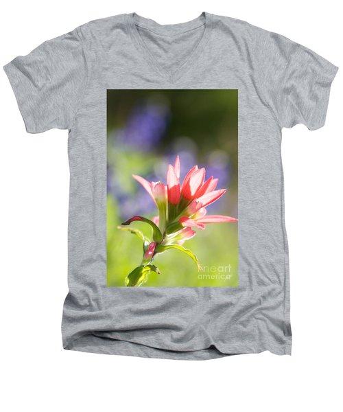 Sun Filled Paintbrush Men's V-Neck T-Shirt