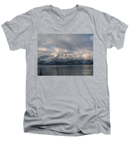 Sun On The Mountains Men's V-Neck T-Shirt