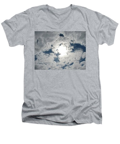 Sun Peek Men's V-Neck T-Shirt by Deborah Lacoste
