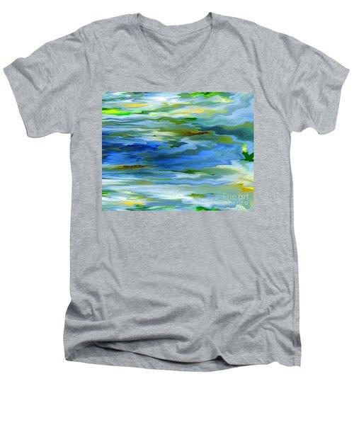 Sun Ray Reflection Men's V-Neck T-Shirt by Cedric Hampton