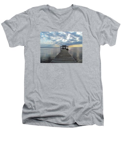 Sun Rays On The Lake Men's V-Neck T-Shirt