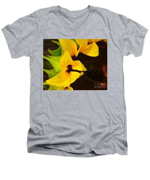 Men's V-Neck T-Shirt featuring the photograph Sun Worshipper by Joy Hardee