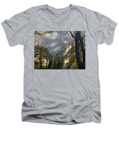 Men's V-Neck T-Shirt featuring the photograph Sunbeam Morning by Dianne Cowen