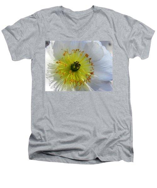 Men's V-Neck T-Shirt featuring the photograph Sunburst by Deb Halloran