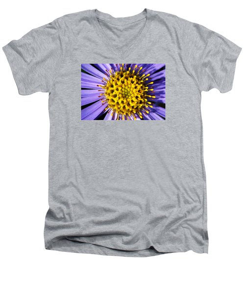 Men's V-Neck T-Shirt featuring the photograph Sunburst by Wendy Wilton