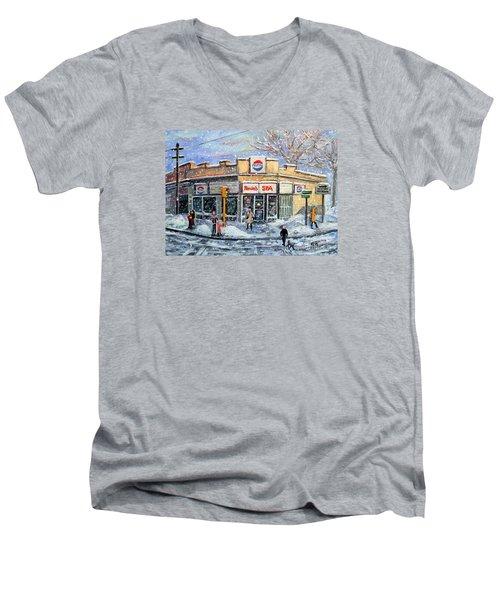Sunday Morning At Renie's Spa Men's V-Neck T-Shirt by Rita Brown