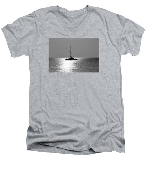 Sundown Sail Men's V-Neck T-Shirt by Amar Sheow