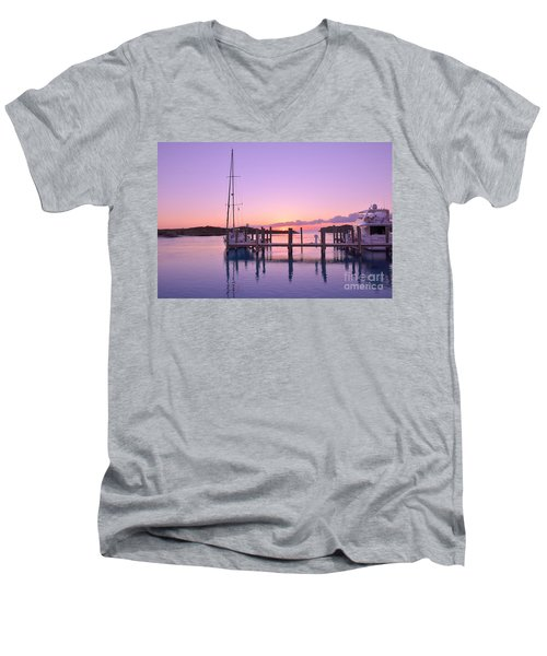 Sundown Serenity Men's V-Neck T-Shirt