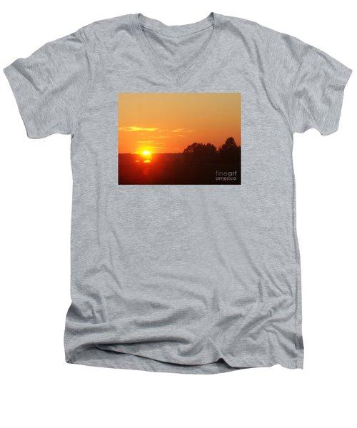 Men's V-Neck T-Shirt featuring the photograph Sundown by Jasna Dragun