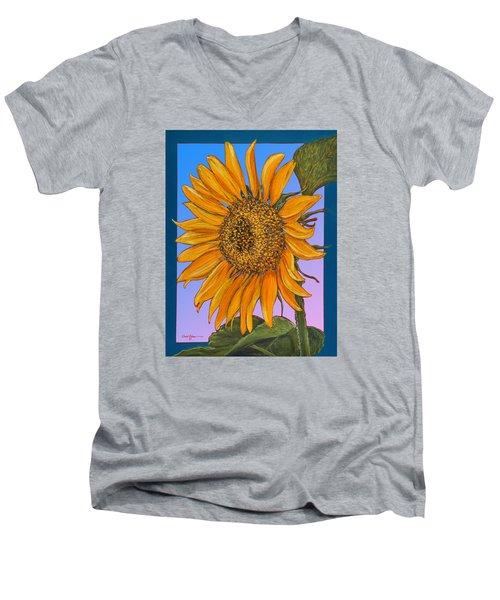 Da154 Sunflower By Daniel Adams Men's V-Neck T-Shirt