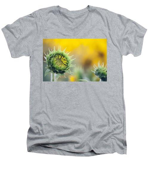 Sunflower Bloom Men's V-Neck T-Shirt