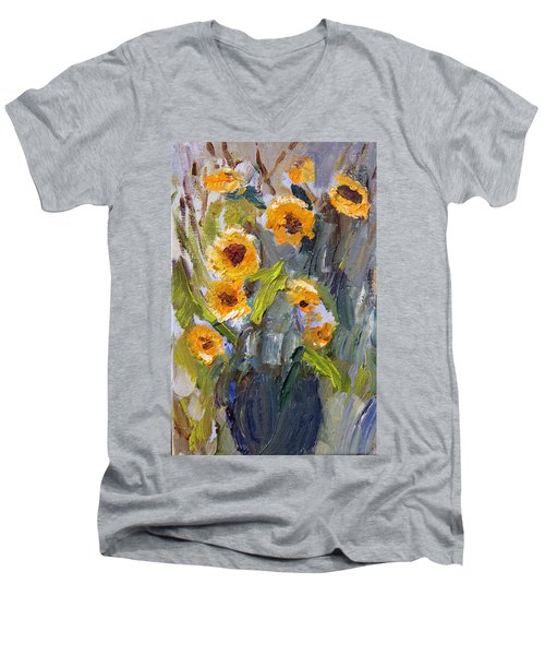 Sunflower Bouquet Men's V-Neck T-Shirt