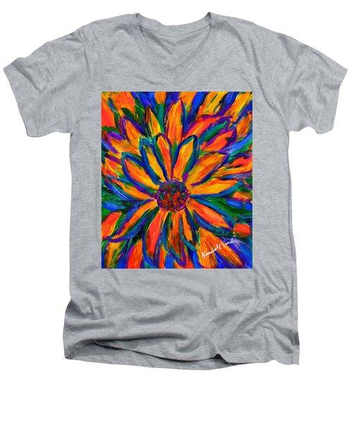 Sunflower Burst Men's V-Neck T-Shirt