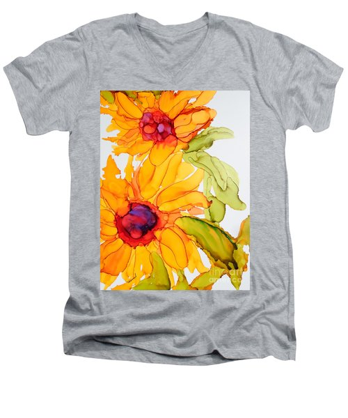 Sunflower Duo Men's V-Neck T-Shirt