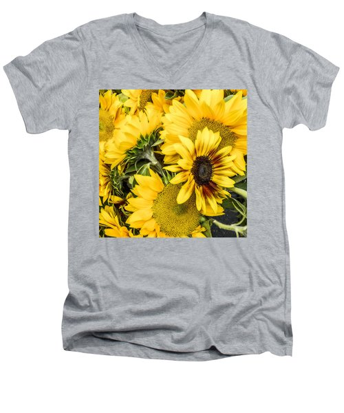 Sunflower Glow Men's V-Neck T-Shirt