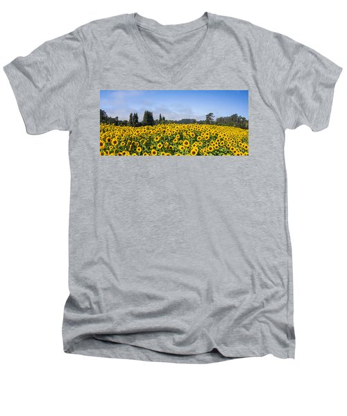 Sunflower Horizon Men's V-Neck T-Shirt