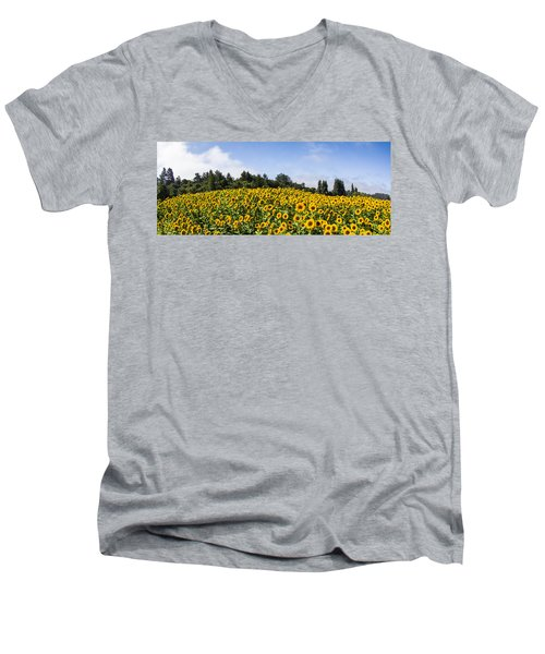 Sunflower Horizon Number 2 Men's V-Neck T-Shirt