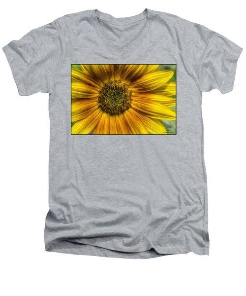 Sunflower In Oil Paint Men's V-Neck T-Shirt
