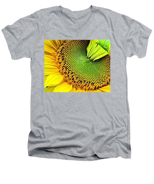 Kaleidescope Sunflower Men's V-Neck T-Shirt