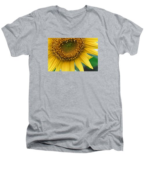 Men's V-Neck T-Shirt featuring the photograph Sunflower Smiles by Julie Andel