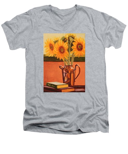 Sunflower Still Life Men's V-Neck T-Shirt