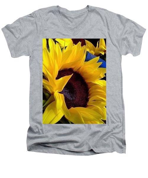 Sunflower Sunny Yellow In New Orleans Louisiana Men's V-Neck T-Shirt