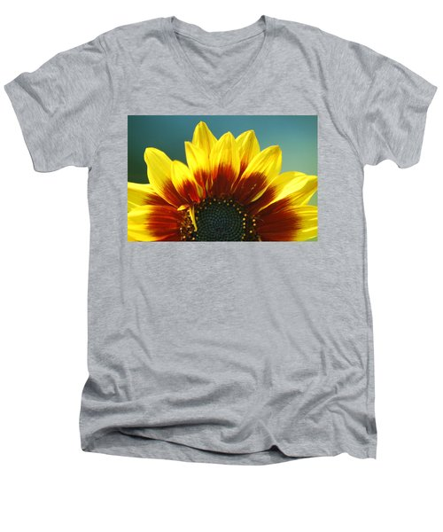 Men's V-Neck T-Shirt featuring the photograph Sunflower by Tam Ryan