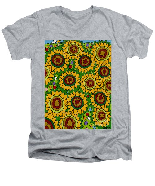 Sunflowers 2 Men's V-Neck T-Shirt