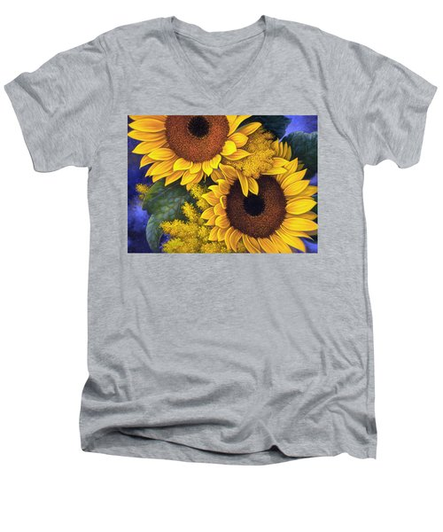 Sunflowers Men's V-Neck T-Shirt
