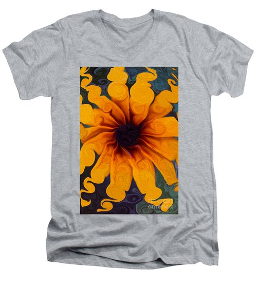 Sunflowers On Psychadelics Men's V-Neck T-Shirt