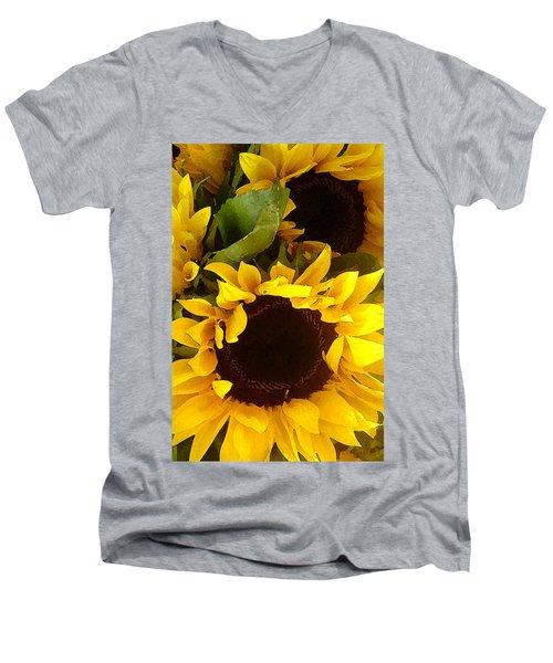 Sunflowers Tall Men's V-Neck T-Shirt