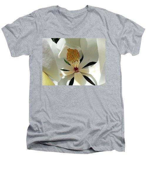 Sunny And Shy Magnolia Men's V-Neck T-Shirt