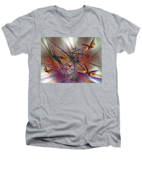 Sunny Day-abstract Art Men's V-Neck T-Shirt