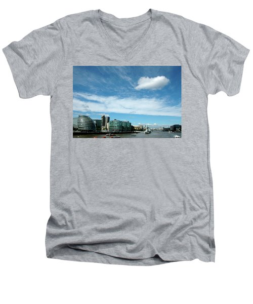 Men's V-Neck T-Shirt featuring the photograph Sunny Day London by Jonah  Anderson