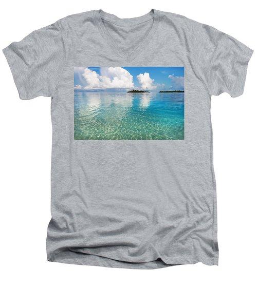 Sunny Invitation For  You. Maldives Men's V-Neck T-Shirt by Jenny Rainbow