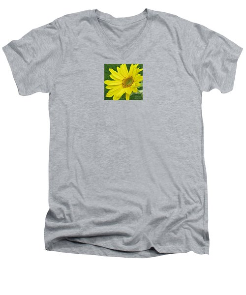 Men's V-Neck T-Shirt featuring the photograph Sunny Side Up by Janice Westerberg