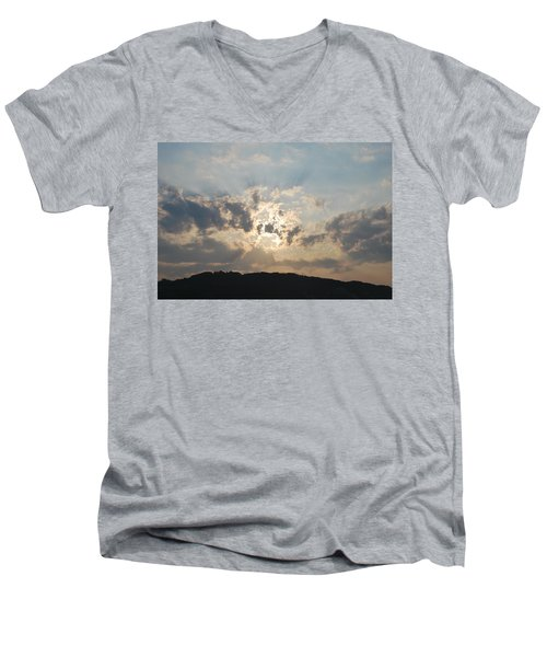 Men's V-Neck T-Shirt featuring the photograph Sunrise 1 by George Katechis