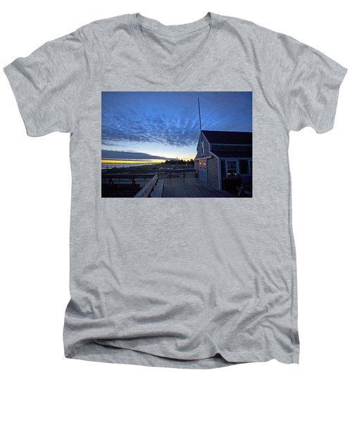 Sunrise At Barnstable Yacht Club Men's V-Neck T-Shirt
