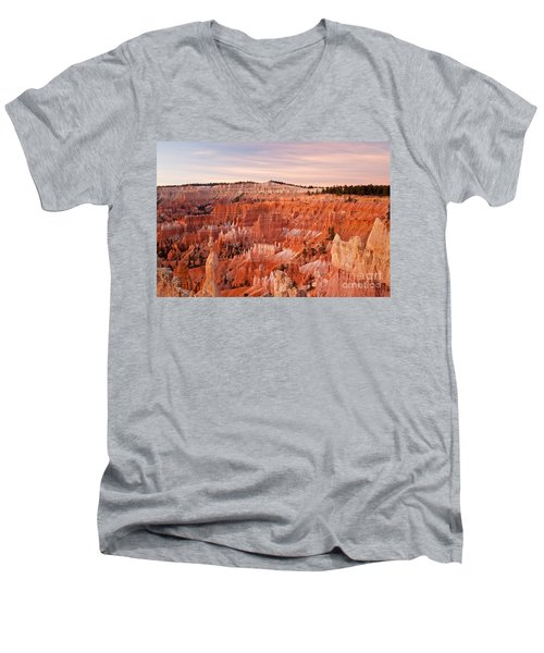 Sunrise At Sunset Point Bryce Canyon National Park Men's V-Neck T-Shirt