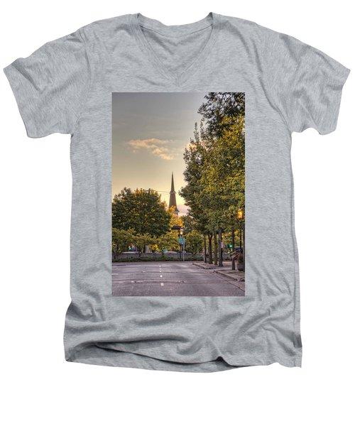 Sunrise At The End Of The Street Men's V-Neck T-Shirt by Daniel Sheldon