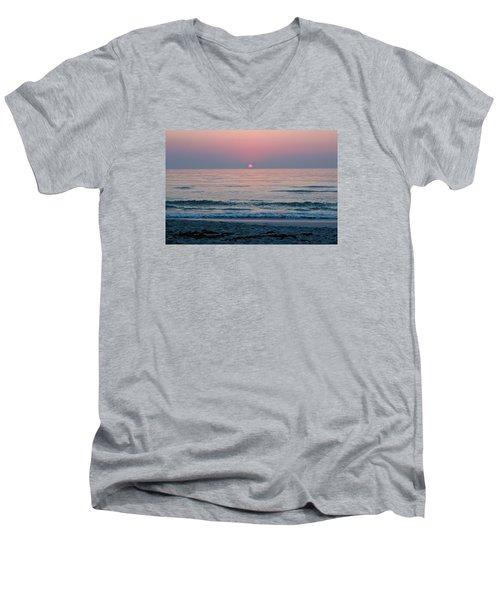 Sunrise Blush Men's V-Neck T-Shirt