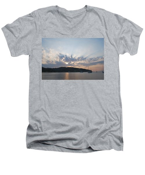 Men's V-Neck T-Shirt featuring the photograph Sunrise by George Katechis