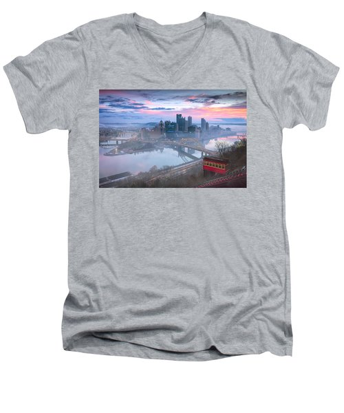 Pittsburgh Fall Day Men's V-Neck T-Shirt by Emmanuel Panagiotakis