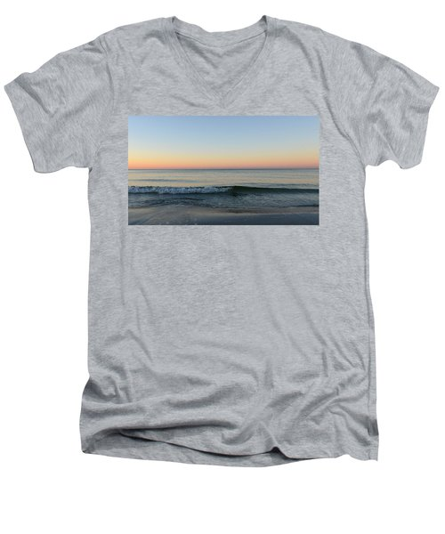 Men's V-Neck T-Shirt featuring the photograph Sunrise On Alys Beach by Julia Wilcox